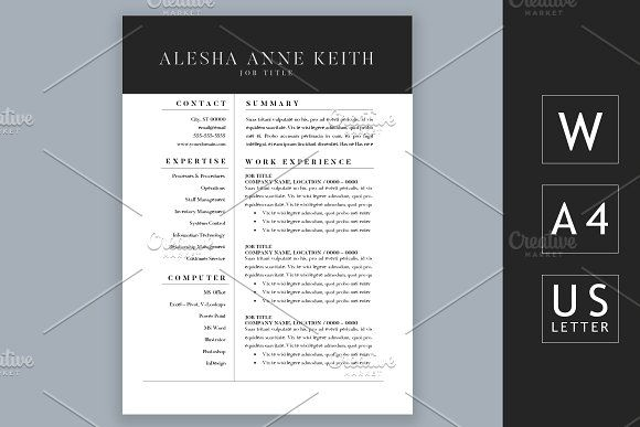 Moder 2 Page Resume For Word By Chic Resumes On Graphicsauthor