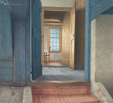 Boerderij-interieur in Drogt vanuit de kelder Art Maarten 't Hart
