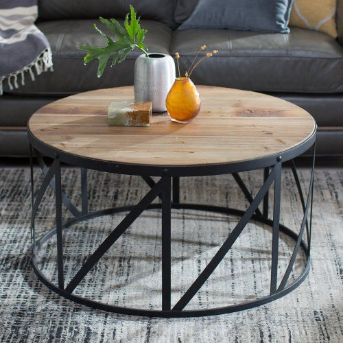 Belham Living Franklin Reclaimed Wood Industrial Coffee Table: 1000+ Ideas About Drum Coffee Table On Pinterest