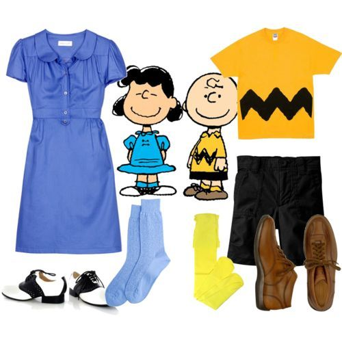 Lucy and Charlie Brown. Here it is: Halloween 2013 costumes for the big Halloween party. Absolute perfection!