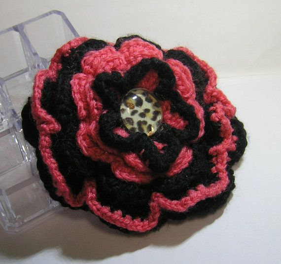 HANDMADE  CROCHET BROOCH flower by rankaswedding on Etsy