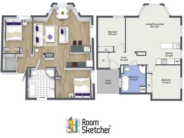 56 best floor plan software images on pinterest floor for Real estate floor plans software