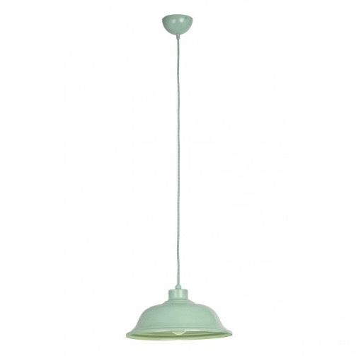 If you love the retro style then this pendant light will be for you. Finished in a lovely pastel green the fitting is included with matching herringbone cable.