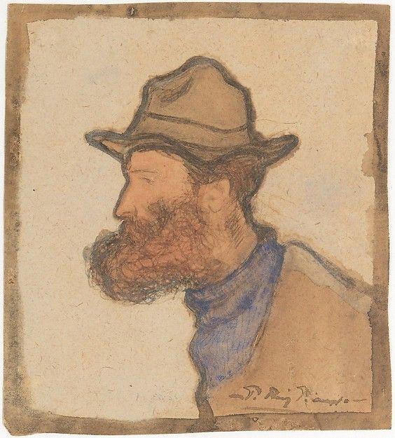 Ramon Pichot portrait by Pablo Picasso, 1900. Private collection. #picasso