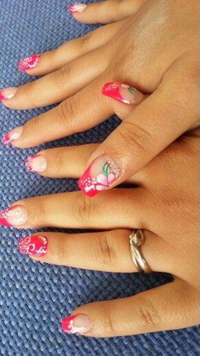 Lovenails#nails#pink#Flower#nail#nails#