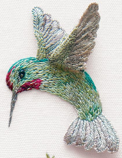 Embroidery hummingbird