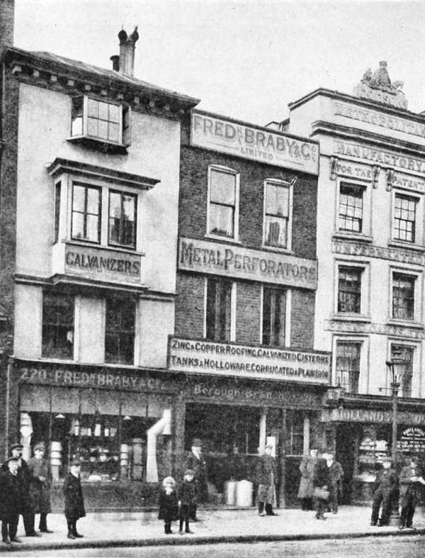 Borough High Street West Side No S 216 220 1903 London History Southeast London Old Photos