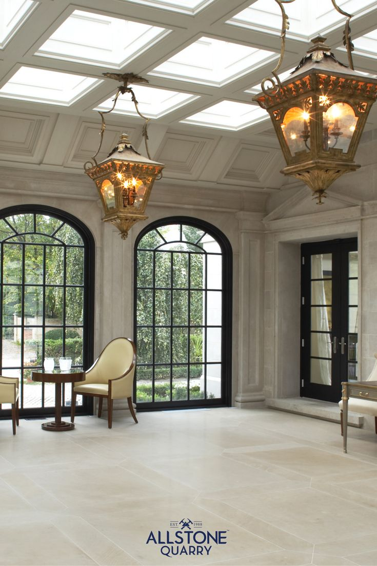 Luxurious room in a luxurious home, built with architectural cut stone