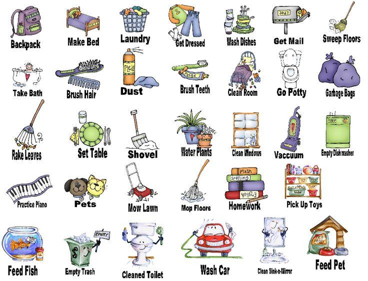 American sign language bathroom - Chores Clip Art Home Images Chores Picture Chores