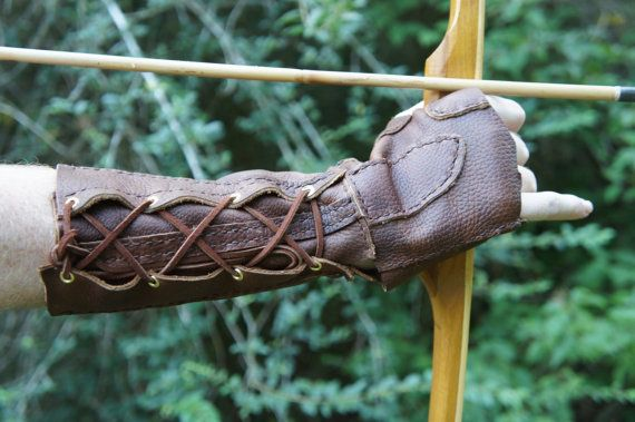 Leather Archery Bracer.  One pair for me and one for Tootles, please.