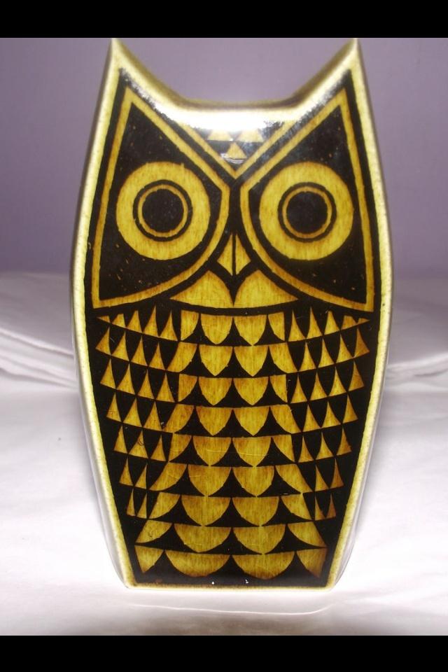 Green owl pepper pot - Hornsea pottery 1970's John Clappison