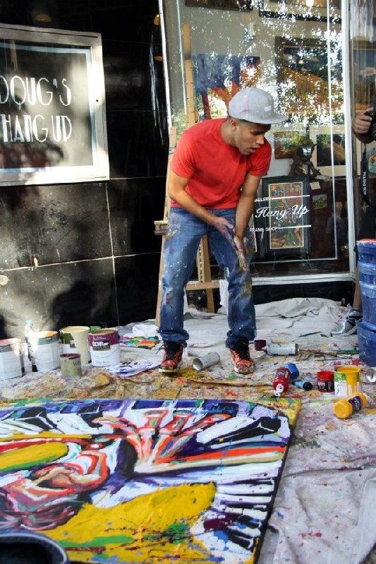 Armando Silva - creating art in downtown Greeley!