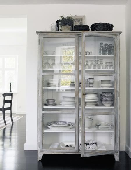 Grey  - white inside FARMHOUSE HUTCH INSPIRATION | CHALK PAINT | CHALK PAINT COLORS | HOW TO PAINT FURNITURE | PAINTED FURNITURE | Perfectly Imperfect Blog