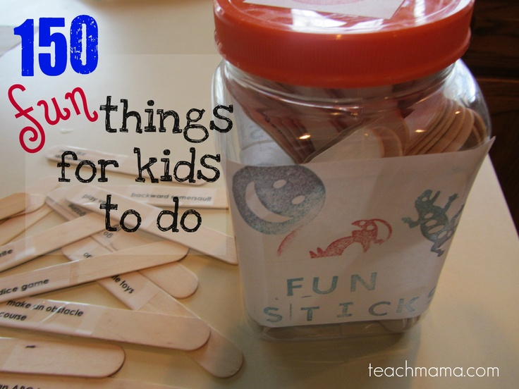 List of 150 fun things to do - some good ideas for