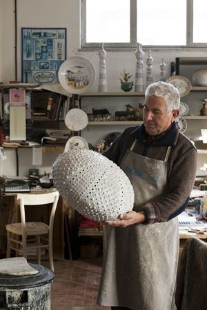 Ceramic artist Angelo Scianella. Sardinia, Italy