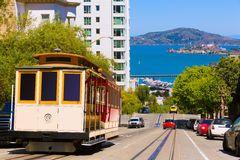 Fotografia de Stock San Francisco Hyde Street Cable Car California