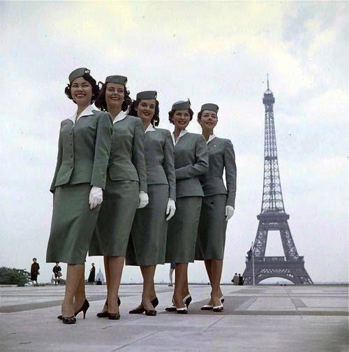 les hôtesse de l'air en 1958