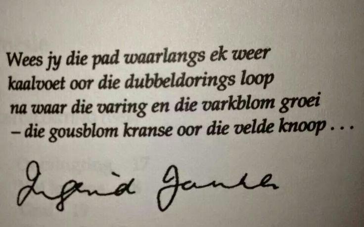 Ingrid Jonker #Afrikaans #Digkuns
