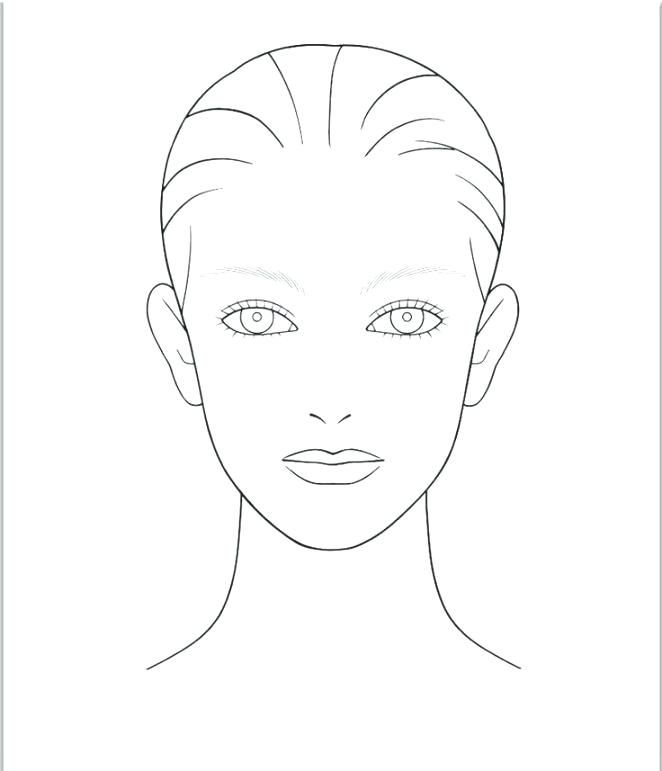 Expert Printable Face Chart Face Chart Online Mac Blank ...