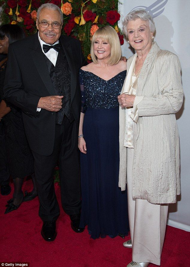 VIPs: James Earl Jones - who was honoured at the event - posed alongside his wife Cecilia ...