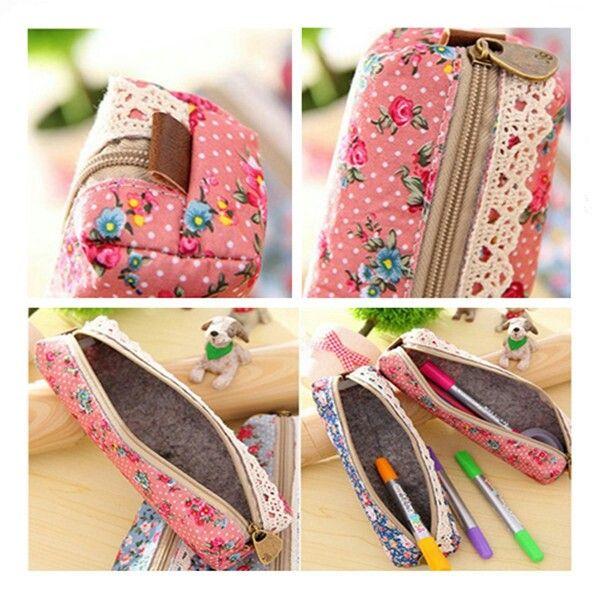Lace pencil case