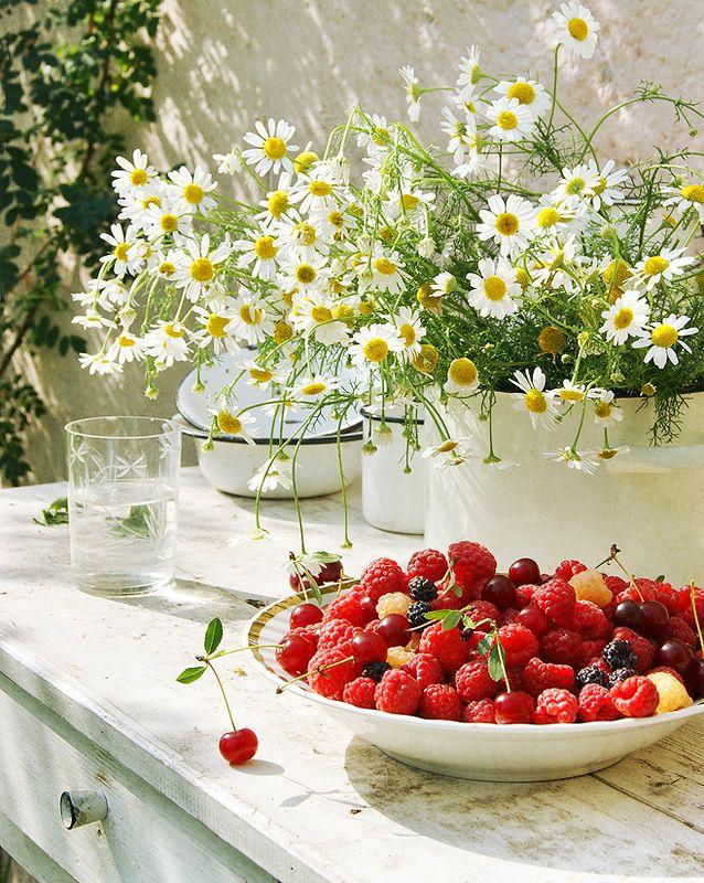Картинка с добрым утром цветы ягоды