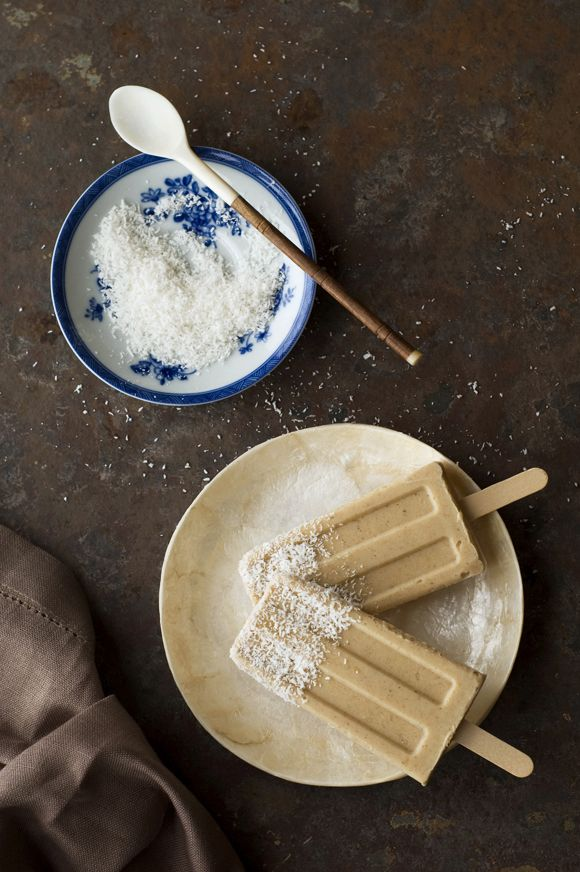 Roasted Banana with Coconut Popsicles | ice cream | Pinterest ...