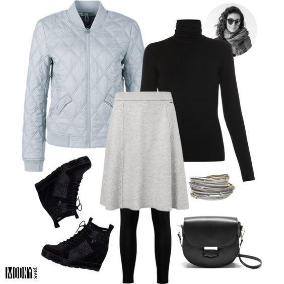 sivá ležérna sukňa – MODNYSVET