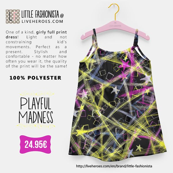 #stars #chaos #lines #squares #abstract #cute #colorful #girly #stylish #modern #drawing #colors #bright #chalk #girldress #dress #fashionforgirls #liveheroes #liveheroesshop #littlefashionista