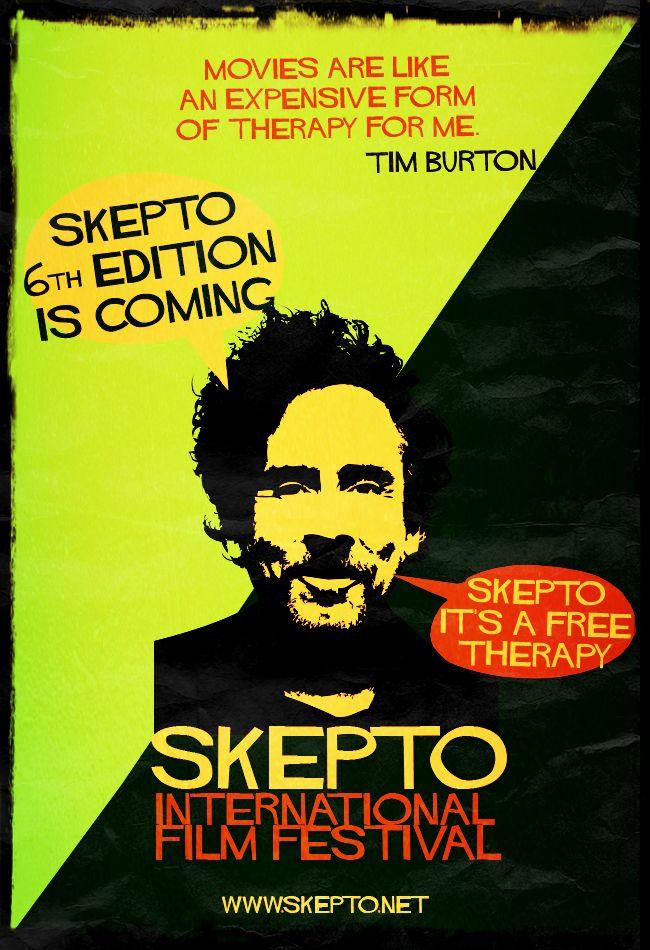 Skepto Retro Poster - Director's Quotes nº3 TIm Burton