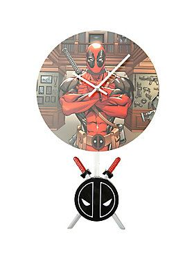 <p>The Merc with a Mouth from Marvel Comics is ready to give your office or home a gritty, cool look with this <i>Deadpool</i> 3D Pendulum wall clock! The clock measures 10-inches in diameter and features a 3D pendulum of the <i>Deadpool</i> emblem and his samurai style swords that swings back and forth. The clock itself features <i>Deadpool</i> with arms folded and a number of intimidating looking guns in the background.</p>  <ul> <li>Requires 2 x AA batteries (not included)</li…
