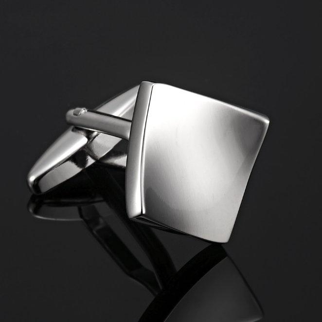 Unique RnB Modern Sharpness Silver Stainless Steel Men's Cufflinks   RnBJewellery