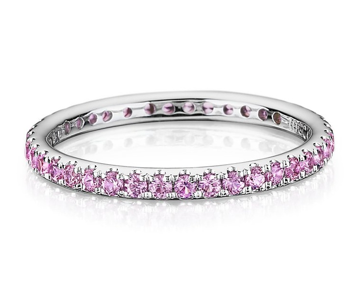 Pink Sapphire Eternity Ring in 18k White Gold - Blue Nile