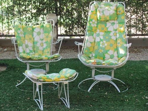 Vintage Mid 60 S Homecrest Riviera Carousel Chairs Plus Ottoman Ebay The Great Project Outdoor Furniture 60s