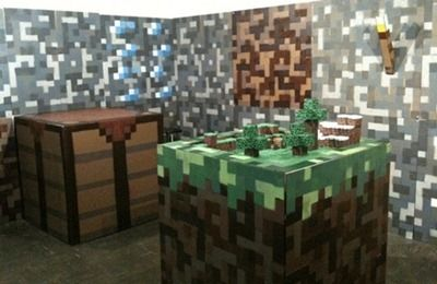 real life minecraft room