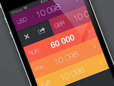 #Currency #Calculator #UI | #design #ux #mobile #app #web #developer #metroesque #colorful #palette