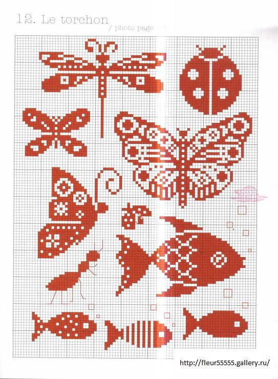 Any of these small cross stitch patterns can be adapted for seed beed brick or loom weaving.   Just remember they will slightly elongate because cross stitch is based on a square, and a seed bead is more oval.