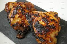 Cuisses de poulet marinées et rôties au barbecue