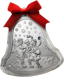 Рождественская монета-колокольчик из серебра от Монетного двора Польши удивит и порадует