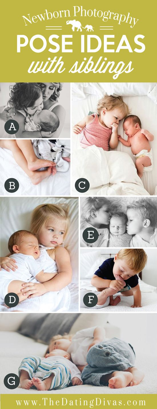 Precious Newborn Photography Pose Ideas with Siblings