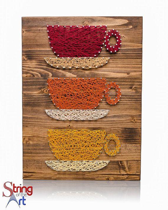 string art diy kit coffee cups string art coffee coffee decor diy