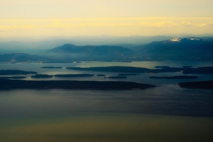 Канада из окна самолета — Вид с самолета на остров Ванкувер (Vancouver Island)