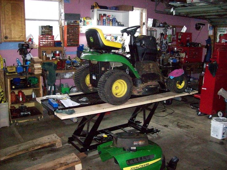 Garden Tractor Work Stand : Best homemade motorcycle lifts stands and dollies