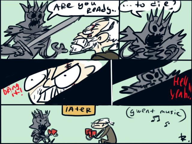 The Witcher 3, doodles 21 by Ayej