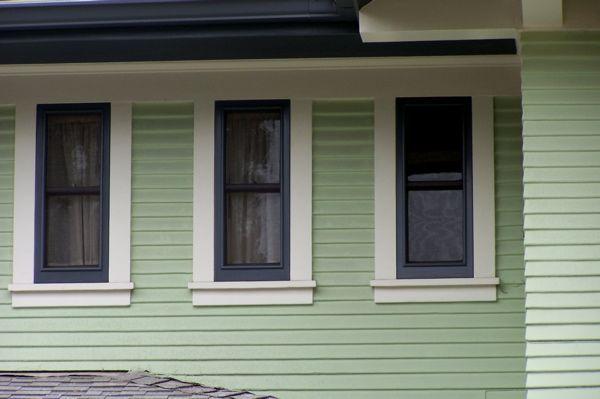 99 best colors images on pinterest exterior colors exterior paint colors and color palettes for Exterior window trim craftsman style