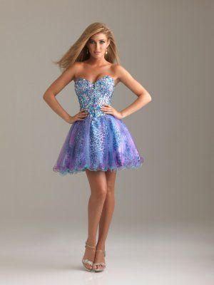 Short Sparkly Top Prom Dress