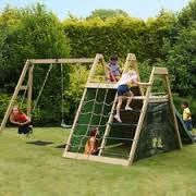 Image result for swing and slide climbing cargo net