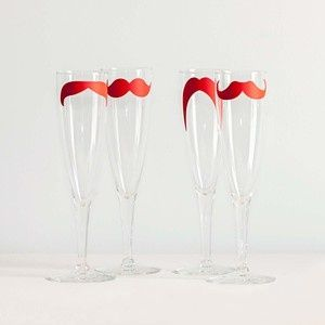 Mustache Champagne Glasses Set!!!!!!!!!1
