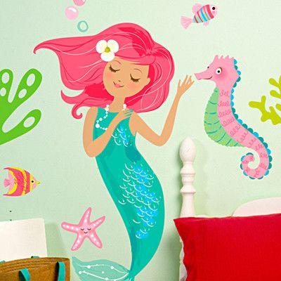 Modern Wallies Mermaid Wall Decal | AllModern
