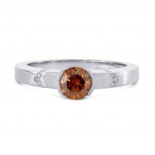 Fancy Deep Brownish Orange Diamond Ring, SKU 118125 (0.55Ct TW)